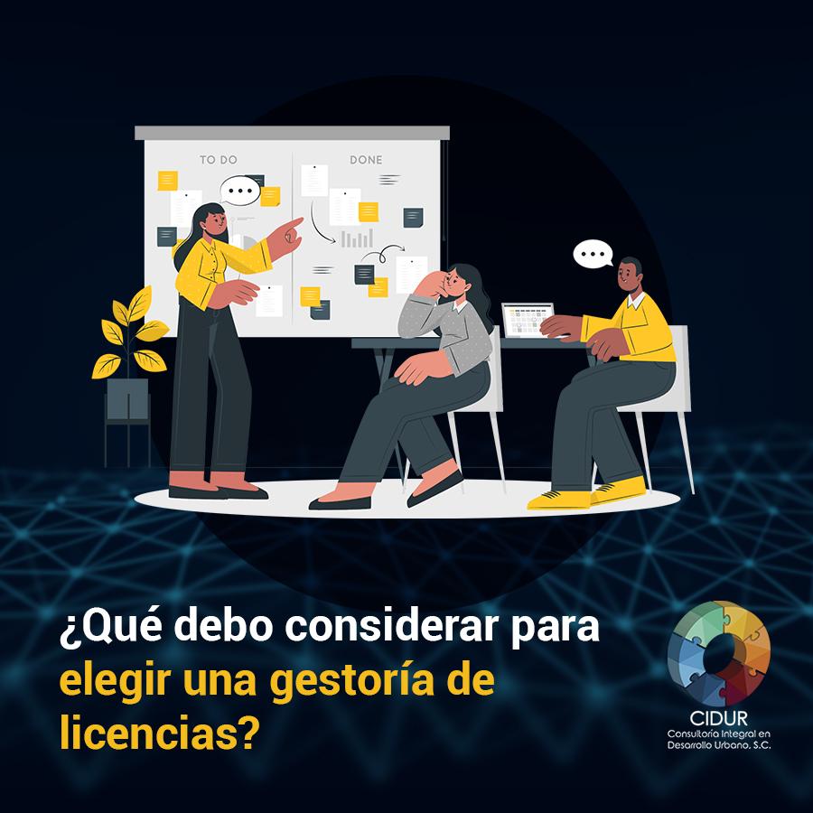 ¿Qué debo considerar para elegir una gestoría de licencias?